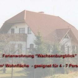 Ferienhaus Thüringen - Ferienwohnung Wachsenburgblick